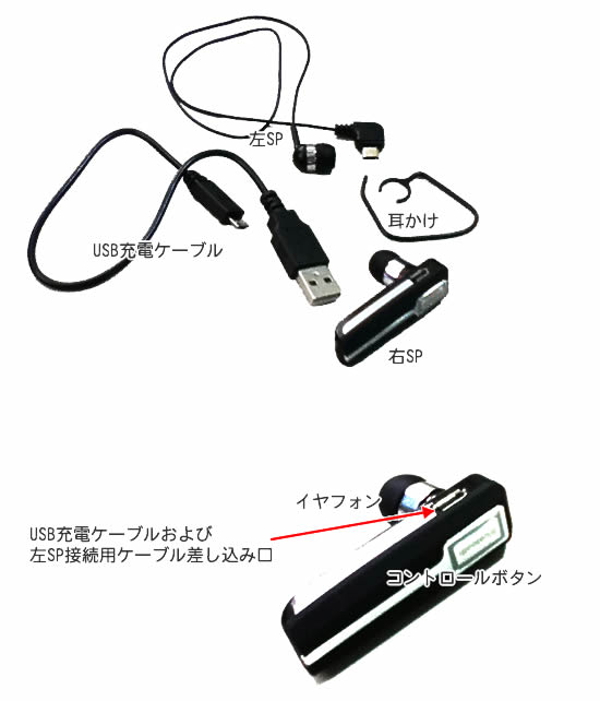 Bluetoothイヤフォン画像